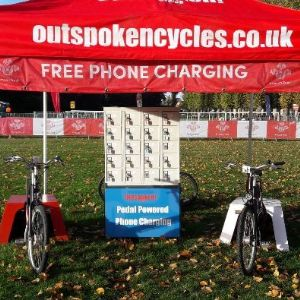 Pedal Power Phone Charging setup