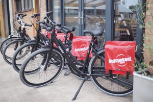 Hire bikes outside office