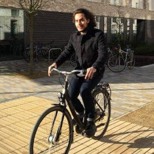 Loan Scheme participant on bike