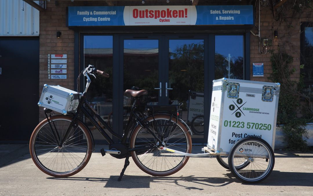 Shop Case Studies – Cambridge Environmental Services' E-Bike & Trailer